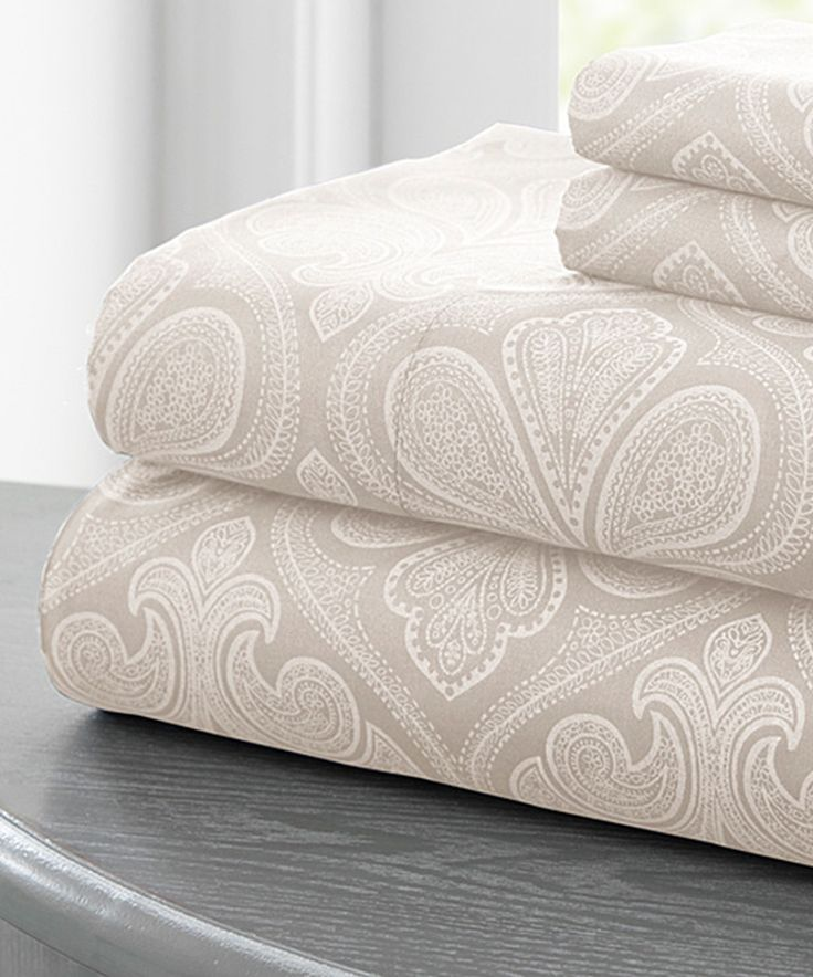 Look at this #zulilyfind! Vanilla Paisley Sheet Set by Colonial Home Textiles #zulilyfinds