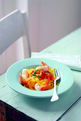 Pâtes fraîches aux langoustines et à l'estragon Ed. Larousse Cuisine
