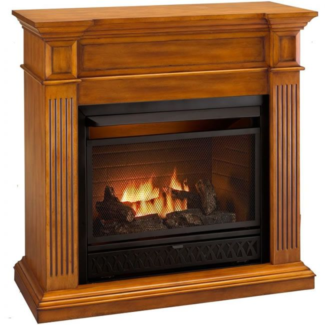 Ventless Propane Fireplaces | Procom Complete Ventless Gas Fireplace
