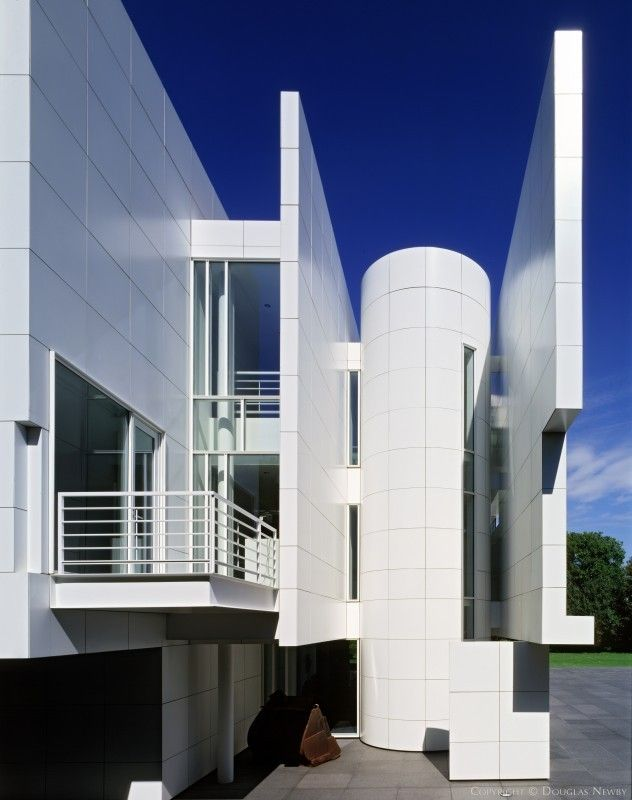 Modern Home Designed by Architect Richard Meier  The Rachofsky House