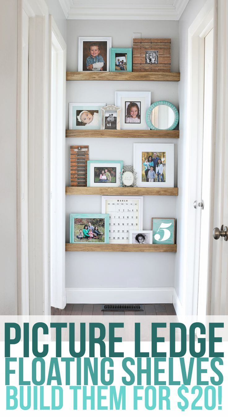 how to build narrow floating shelves with a picture ledge decorate the end of your