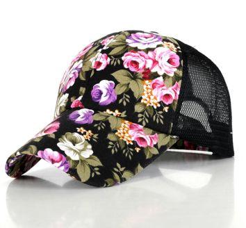 Floral Baseball Cap ---$13.99 (5 Colors)