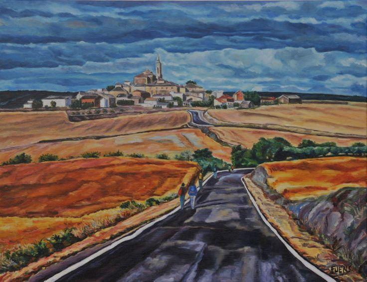 """""""On the way"""" / """"En el camino""""   Óleo sobre lienzo de lino para el proyecto : St. James Way"""