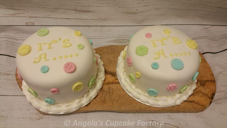 Is het een jongen of een meisje? Gender Reveal taartjes voor de opa's en oma's! Gender Reveal cakes for the grandparents!