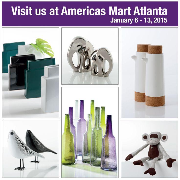 Visit us at Americas Mart Atlanta! January 6 - 13, 2015 Atlanta International Gift & Home Furnishings Market Showroom 1715 - Bldg 2  #TorreAndTagus #AmericasMartATL #GiftShows www.americasmart.com www.torretagus.com