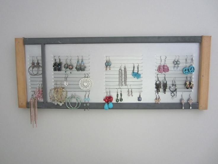 awesome industrial vent earring holder. yes.: Industrial Vent, Earrings Holders, Awesome Industrial, Vent Earrings