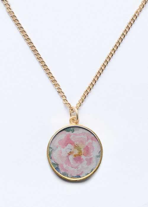 Rose Flower pendant Gold/Silver jewelry #rose #flower #floral #jewelry #trendy