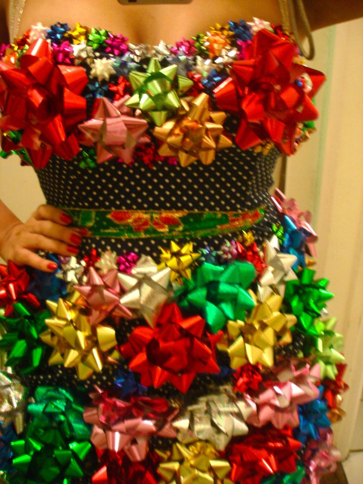 Gift Bows~ Could make for a funny white elephant gift~