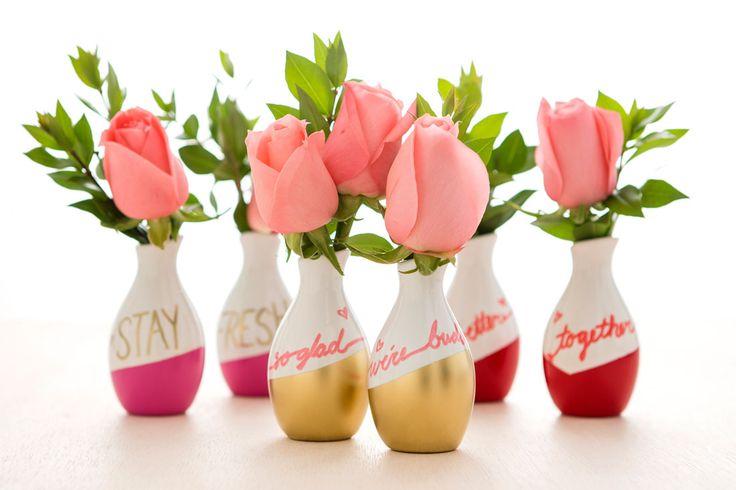 DIY these bud vases for V-Day.