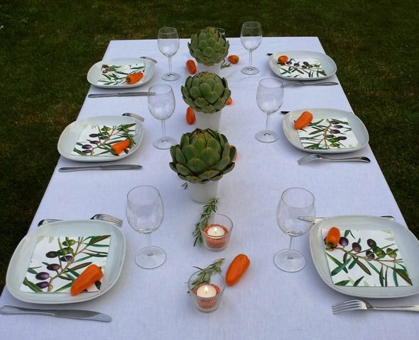 d co de table th me jardin potager anniversaire pinterest