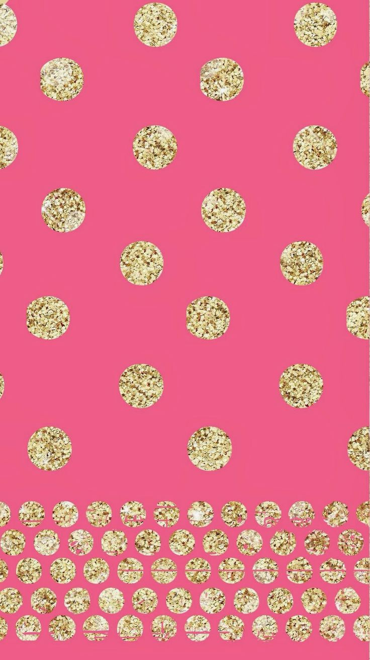 iPhone 5 Wallpaper Background - pink and glitter polka dots