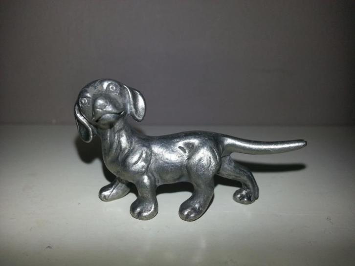 Miniatuur teckel zilver