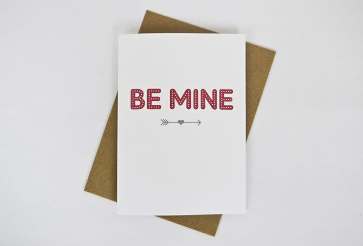 Image of 'Be mine' Valentine's card in red