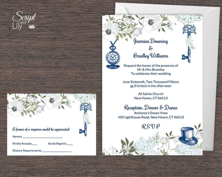 376 best instant downloadable edit and print digital wedding navy white alice in wonderland invitation template free stopboris Image collections