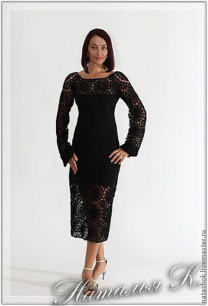 Black Night. - вечернее платье,черный цвет,ажур,100% мерсеризованный хлопок