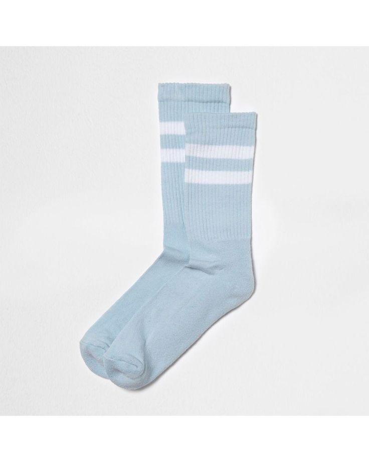 River Island | Blue Stripe Tube Socks Blue Stripe Tube Socks for Men | Lyst