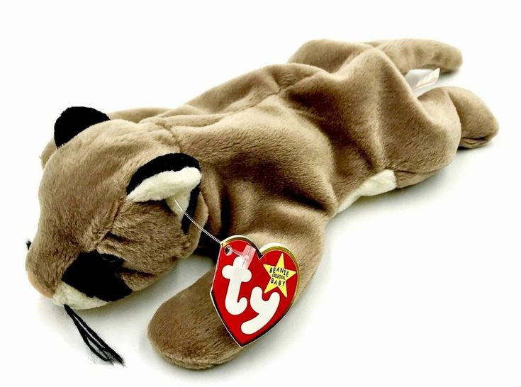TY Original beanie babies Canyon the cougar Cat 1998 Plush Teddy Toy Kids New