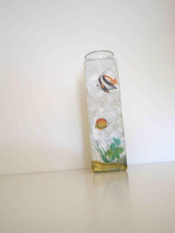 Handmade Glass VaseWave shapedFishes by KyriakisAtelier on Etsy, €25.90