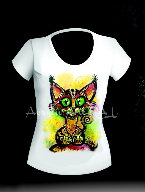 Tricou pisica Kapuka 1 (70 LEI la ArtRALU.breslo.ro)