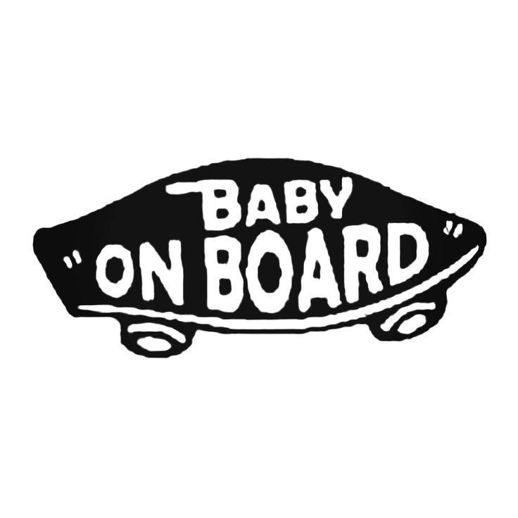 Baby On Board Skateboard 2 Decal Sticker  BallzBeatz . com