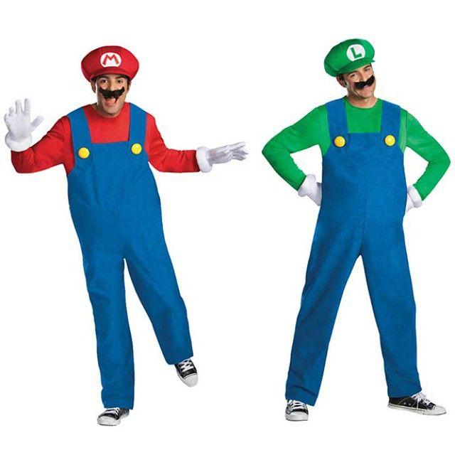 Plumber Guy Mario Men's Fancy Dress Costume