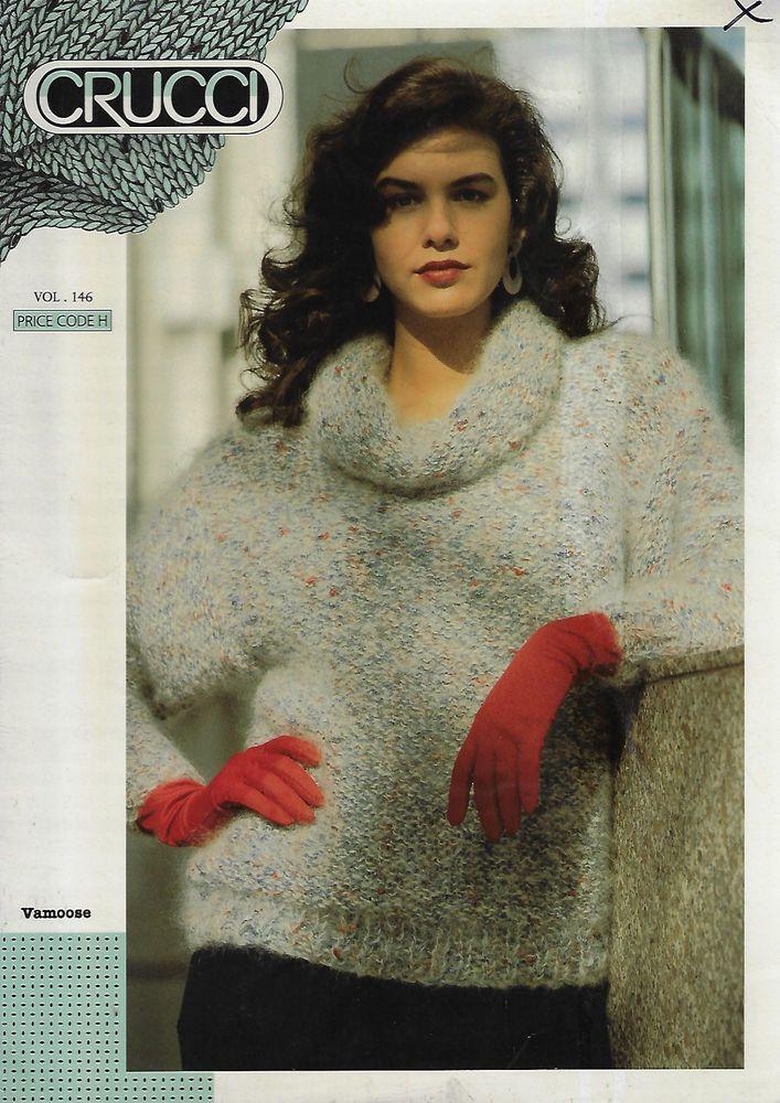Women's Cowl Neck Sweater Crucci # 146 knitting pattern bulky yarn #Crucci