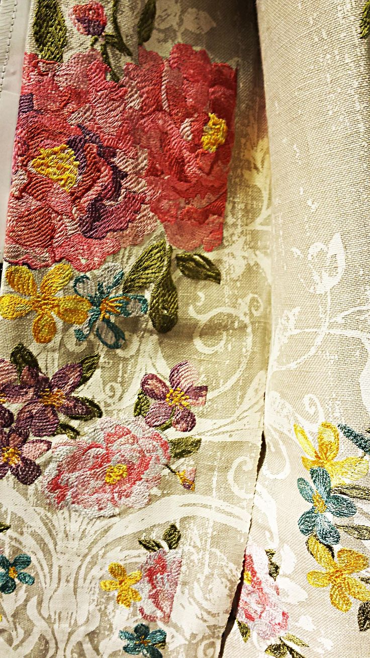 Floral curtain by John Lewis