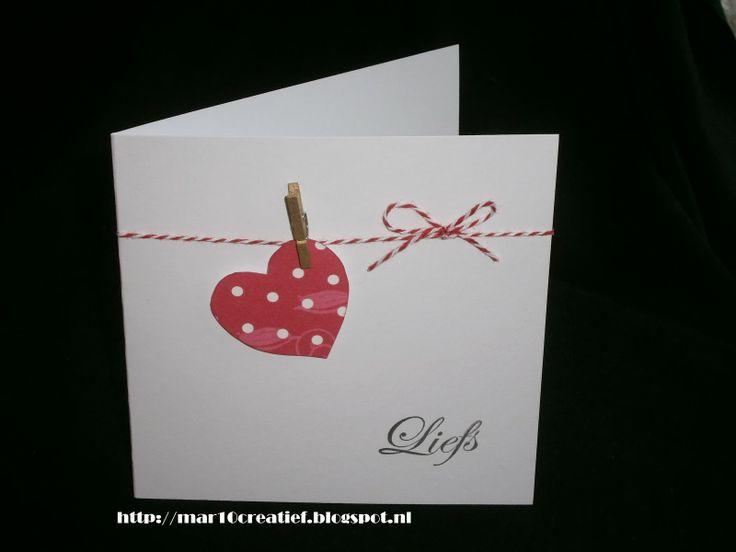 Valentine's card Valentinskarte Valentijnskaart clean and simple cas papercraft zelfgemaakte kaarten scrapcards scrapkaarten basteln Mar10creatief