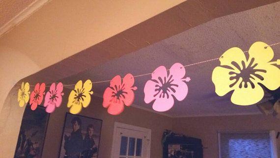 Bannière fête hawaïenne, aloha bannière, luau hawaïen, partie luau, bunting ananas, rôti de porc, fête tiki, soirée tropicale, tropicale de mariage,