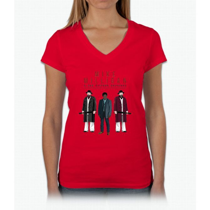 Mike Milligan & The Kitchen Brothers! FARGO Womens V-Neck T-Shirt
