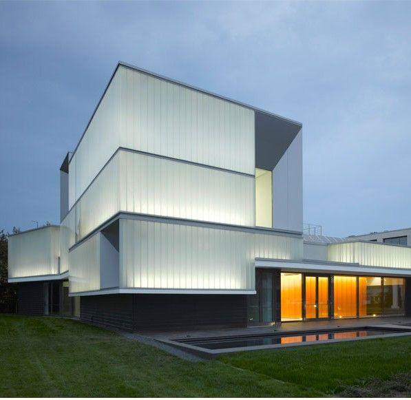 Polycarbonate Sheeting  Domus Technica: Immmergas Center for Advanced Training / Iotti + Pavarani Architetti