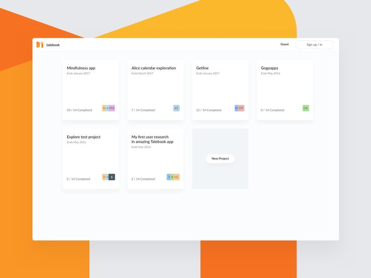 Talebook – Projects Dashboard by Grzegorz Oksiuta - Dribbble