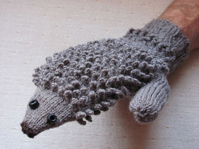 Hedgehog Mitts pattern by Morehouse Designs