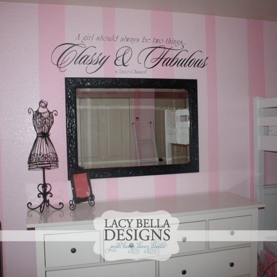 French-inspired Bedrooms for Girls   ... French inspired girls bedroom. See more Paris themed wall decals at