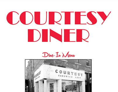 """Check out new work on my @Behance portfolio: """"The Courtesy Diner - Menu Redesign"""" http://on.be.net/1M6MbbQ"""