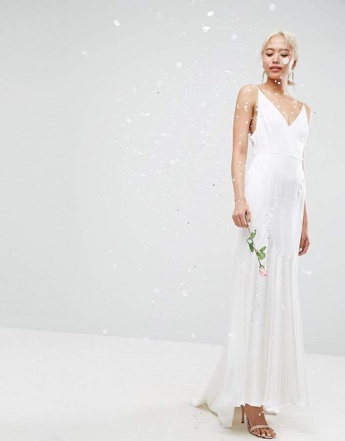 90d8b1c0ad7da8 Asos Edition EDITION Cami Wedding Maxi Dress With Seam Details #EDITION #Cami#Asos