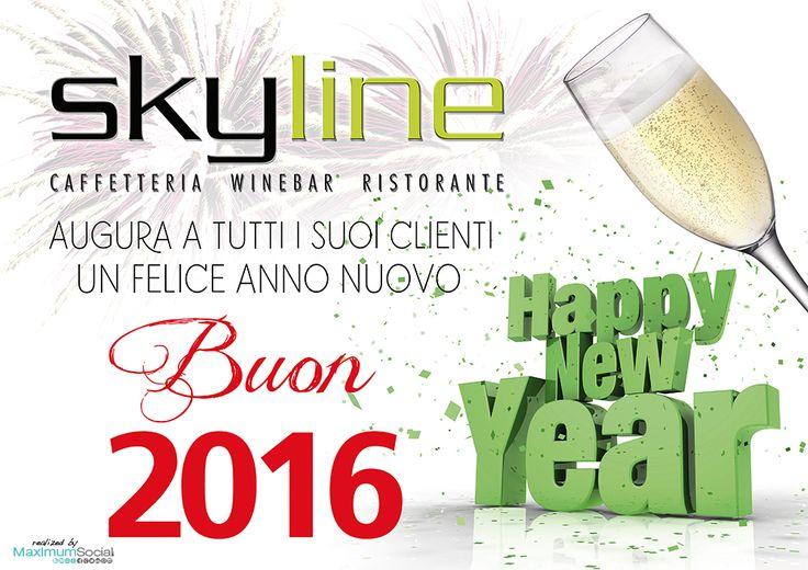 Skyline Caffe Ristorante Augura a tutti i suoi clienti un Felice Anno Nuovo. Buon 2016! #HappyNewYear #BuonAnno #Capodanno #SkyLine #RistoranteRimini #CapodannoRimini #FeliceAnnoNuovo #MaximumSocial #BuoneFeste