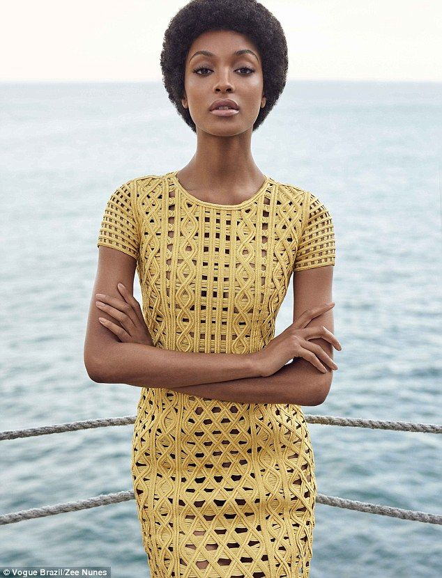 Simply beautiful: Jourdan Dunn is unrecognisable as she rocks a chic afro on the cover of ...
