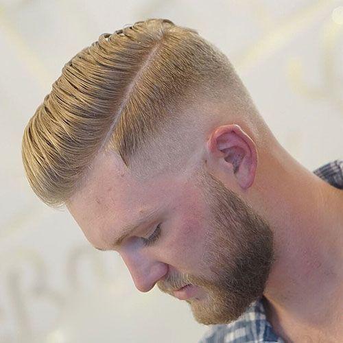 One Side Hairstyle Short Parted Haircut Hair Hair Barbeiro