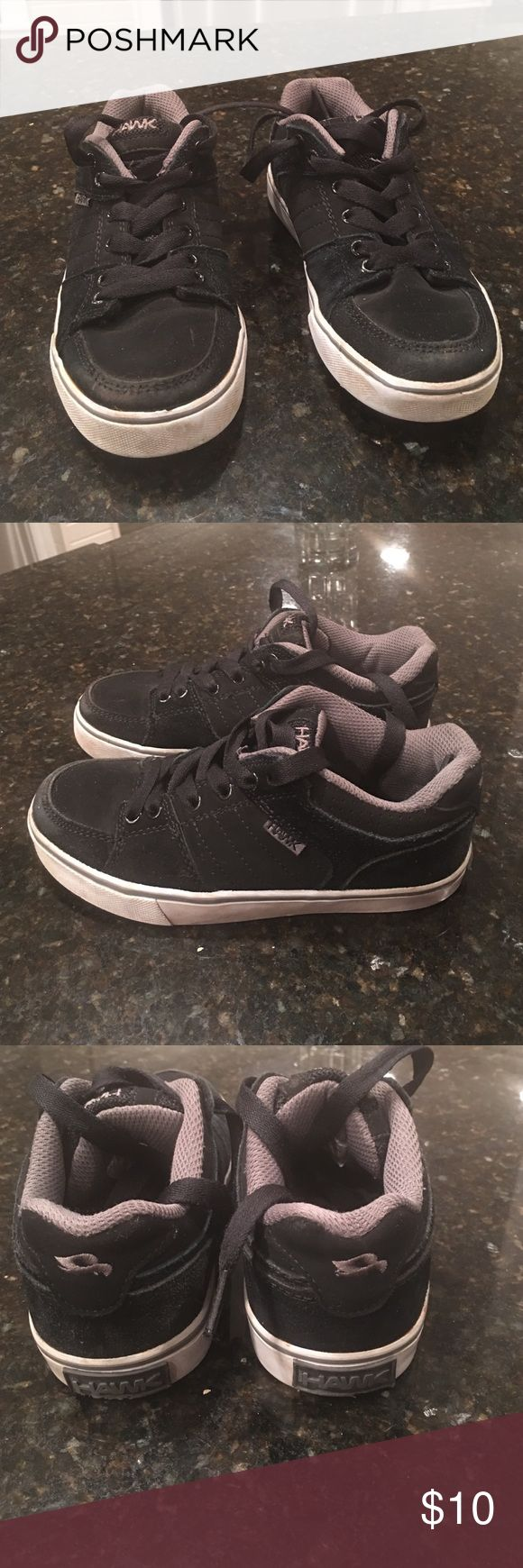 Boys size 13 m tennis shoes Used but good condition upper leather/man made material Tony Hawk Shoes Sneakers