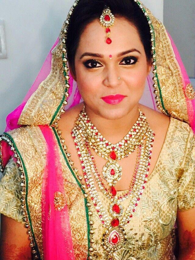 Indian bride pride...hair and makeup by jitin rathore.