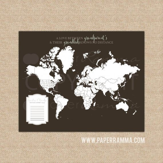 296 best 76th newbury images on pinterest friend gifts custom gift for grandpa fathers day gift world map by paperramma on etsy gumiabroncs Gallery