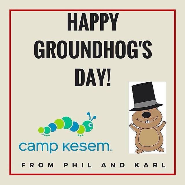 Happy Groundhog's day everyone! Warm days are coming soon, which means before you know it, we'll be at camp!