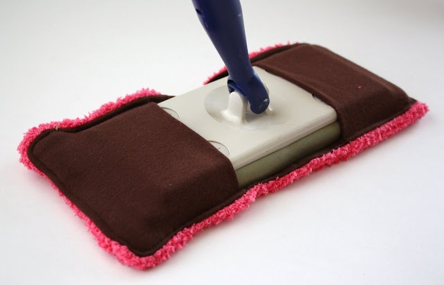 Make your own reusable swiffer sweeper pads.