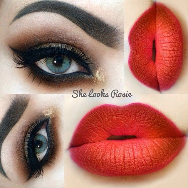 Normally I think lip liner looks awful but this person knew what they were doing!