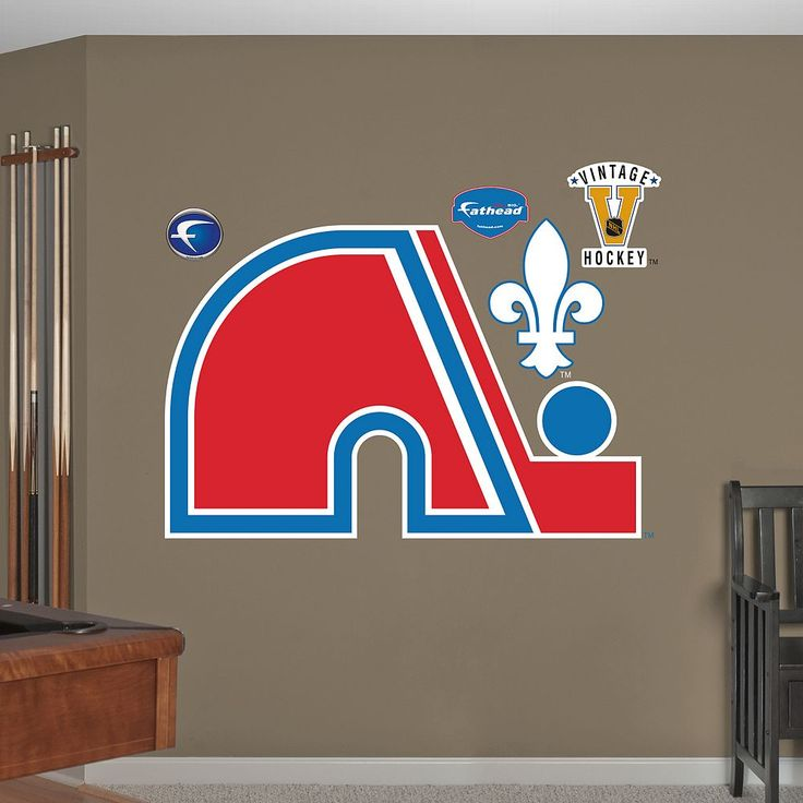 Fathead Quebec Nordiques Wall Decals, Multicolor