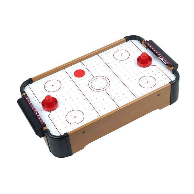 Mini Tabletop Air Hockey Game, Brown