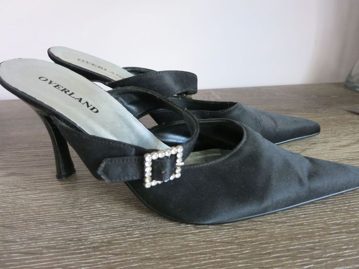 OVERLAND Ladies Black High Heel Shoes Size 8 Fit a 7.5 #Overland #Pointy #SpecialOccasion