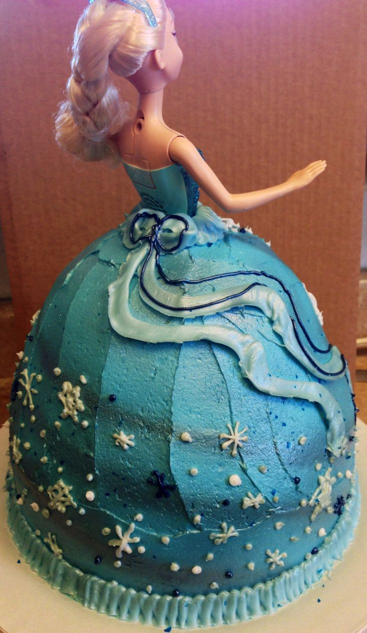 Frozen Barbie Cake Design : 17 Best ideas about Frozen Barbie Cake on Pinterest Elsa ...