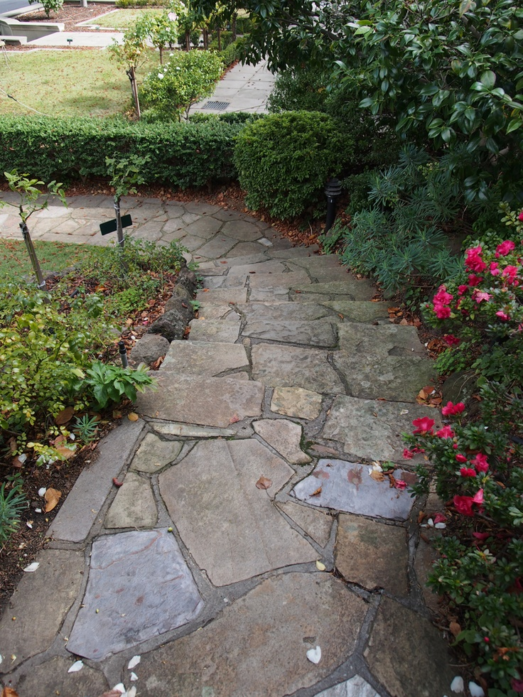 When random #crazy #stone is laid well, it will look great from any vantage point.
